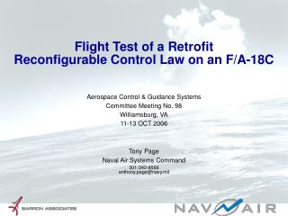 Flight Test of a Retrofit Reconfigurable Control Law on an F/A-18C