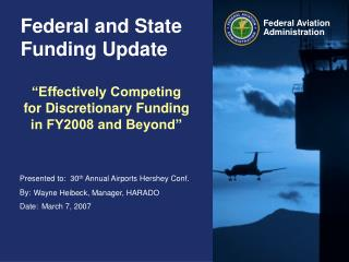 Federal and State Funding Update