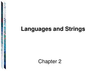 Languages and Strings