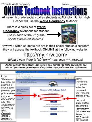 7 th  Grade World GeographyName: _______________