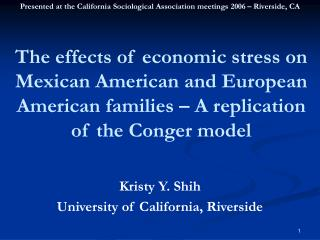 Kristy Y. Shih University of California, Riverside
