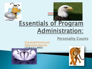 Essentials of Program Administration: