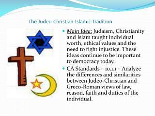The Judeo-Christian-Islamic Tradition