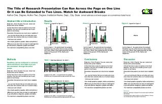The Title of Research Presentation Can Run Across the Page on One Line