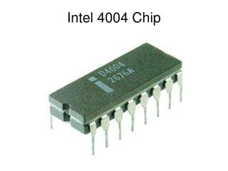 Intel 4004 Chip
