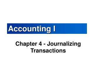 Accounting I