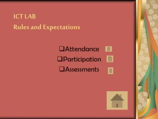 ICT LAB Rules and Expectations