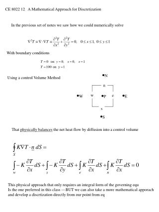 CE 8022 12   A Mathematical Approach for Discretization