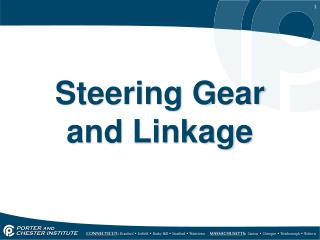 Steering Gear and Linkage