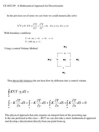 CE 8022 09   A Mathematical Approach for Discretization
