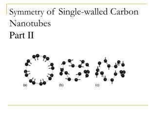 Symmetry of Single-walled Carbon Nanotubes Part II