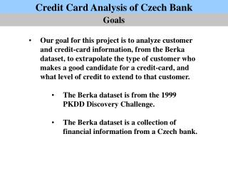 Credit Card Analysis of Czech Bank