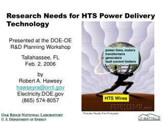 Research Needs for HTS Power Delivery Technology