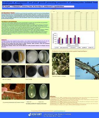 *Corresponding author Dr S Gopalakrishnan, Email: s.gopalakrishnan@cgiar