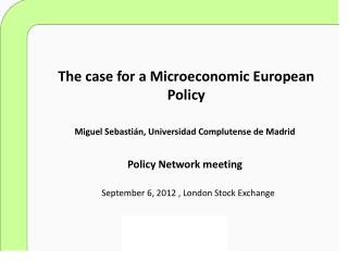 The case for a Microeconomic European Policy