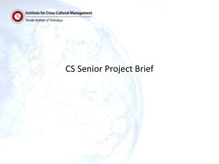 CS Senior  Project Brief