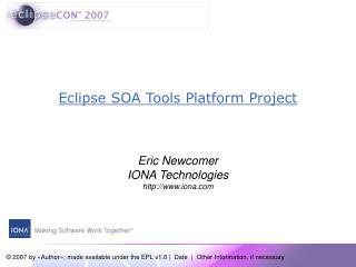 Eclipse SOA Tools Platform Project