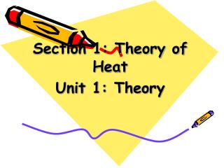 Section 1: Theory of Heat Unit 1: Theory
