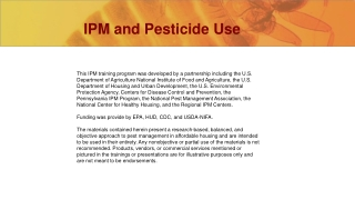 Pesticide Use Risk Reduction Project