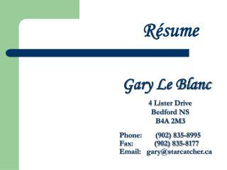 Gary Le Blanc