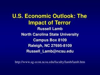 U.S. Economic Outlook: The Impact of Terror