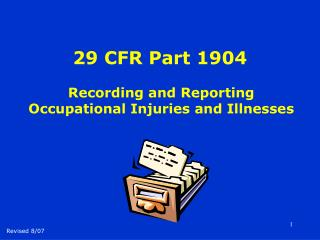 29 CFR Part 1904 Recording and Reporting Occupational ...