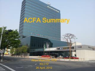 ACFA Summary