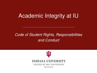 Academic Integrity at IU