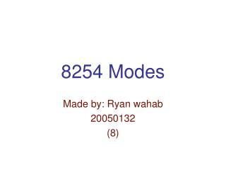 8254 Modes