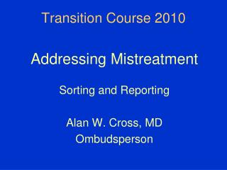 Transition Course 2010