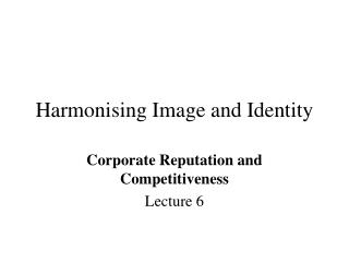 Harmonising Image and Identity