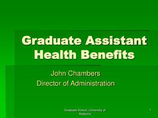 Graduate Assistant Health Benefits