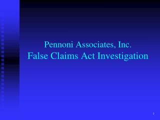 Pennoni Associates, Inc. False Claims Act Investigation
