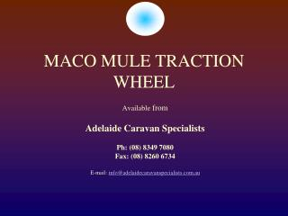 MACO MULE TRACTION WHEEL