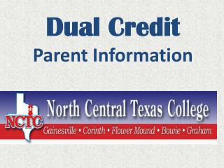Dual Credit Parent Information