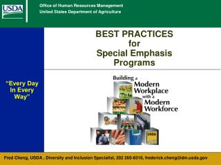 BEST PRACTICES for  Special Emphasis Programs