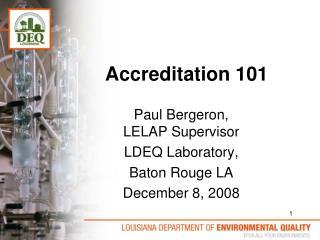Accreditation 101