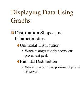 Displaying Data Using Graphs