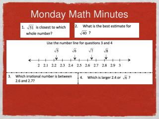 Monday Math Minutes