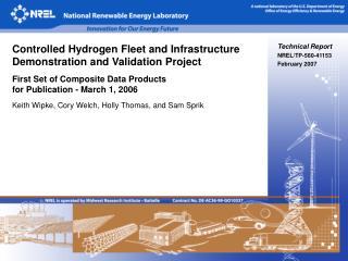 Technical Report NREL/TP-560-41153 February 2007