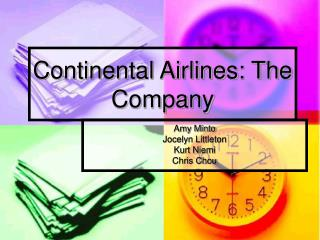 Continental Airlines: The Company
