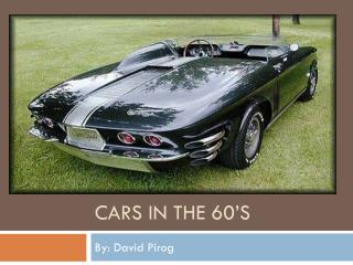Cars in the 60's