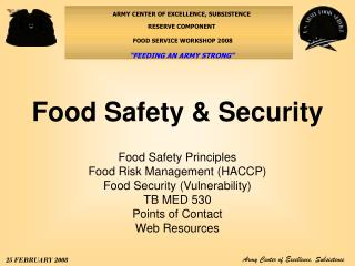 Food Safety & Security