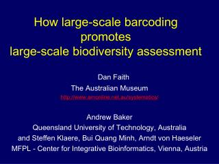 How large-scale barcoding promotes  large-scale biodiversity assessment
