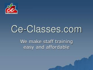 Ce-Classes