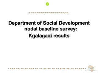Department of Social Development nodal baseline survey: Kgalagadi results