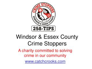 Windsor & Essex County Crime Stoppers