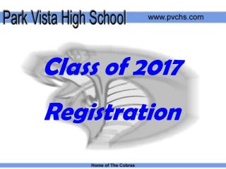 Class of 2017  Registration