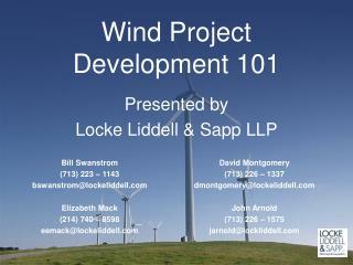 Wind�Project Development 101