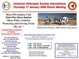 Mesa PD Aviation Unit Chief Pilot Steve Raether